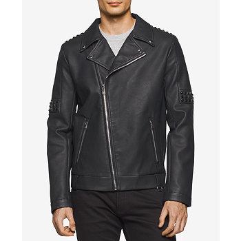 Calvin Klein Faux-Leather Men's Jacket