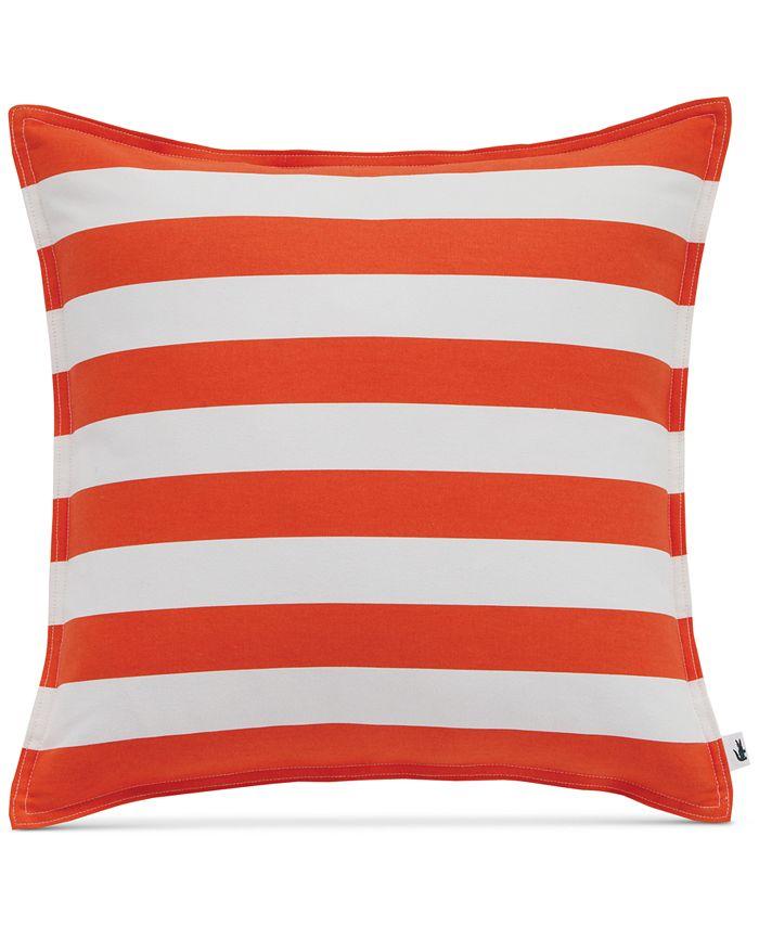 """Lacoste Home - Bastia Fiesta Stripe 16"""" Square Decorative Pillow"""