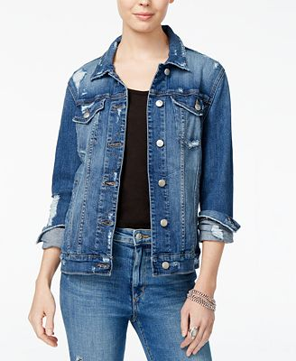 Joe's Ripped Cotton Denim Jacket - Jean Jacket - SLP - Macy's