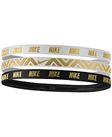 Nike 3-Pk. Metallic Headbands