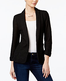 Maison Jules Open-Front Knit Blazer, Created for Macy's