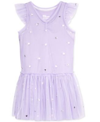 Image of Epic Threads Heart-Print Tulle Dress, Toddler & Little Girls (2T-6X), Only at Macy's