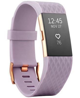 Fitbit Unisex Charge 2 Lavender Strap Heart Rate + Fitness Wristband Small - Special Edition