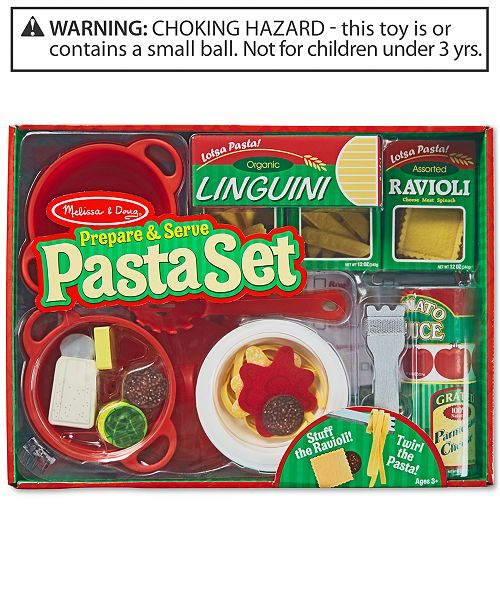 Melissa Doug Prepare Serve Pasta Set