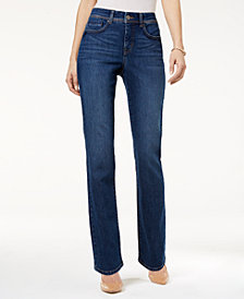 Style & Co Petite Tummy-Control Straight-Leg Jeans, Created for Macy's
