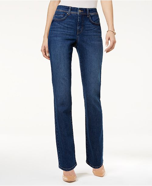 43cf1314 Style & Co Tummy-Control Straight-Leg Jeans, Created for Macy's ...