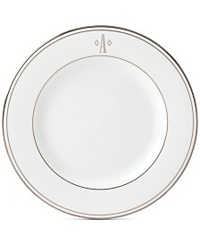 Lenox Federal Platinum Monogram Salad Plate, Block Letters