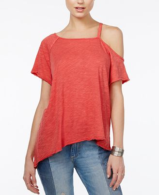 Free People Coraline Cold-Shoulder T-Shirt