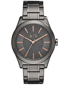Men's Gunmetal Stainless Steel Bracelet Watch 44mm AX2330
