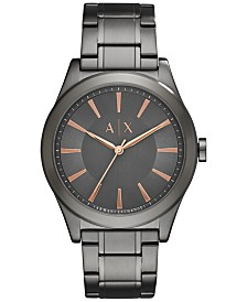 A|X Armani Exchange Men's Gunmetal Stainless Steel Bracelet Watch 44mm AX2330