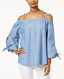 7 Sisters Juniors' Off-The-Shoulder Top