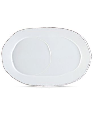 VIETRI Lastra White Collection Oval Tray