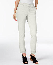 Style & Co Petite Chino Boyfriend Pants, Created for Macy's
