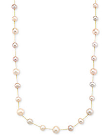 Cultured Pink Freshwater Pearl (9mm & 7mm) Collar Necklace