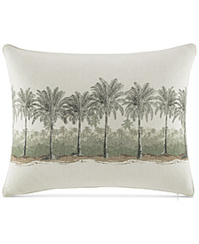 "Tommy Bahama Home Canvas Stripe 16"" x 20"" Palms Decorative Pillow"