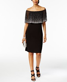 MSK Off-The-Shoulder Embellished Dress