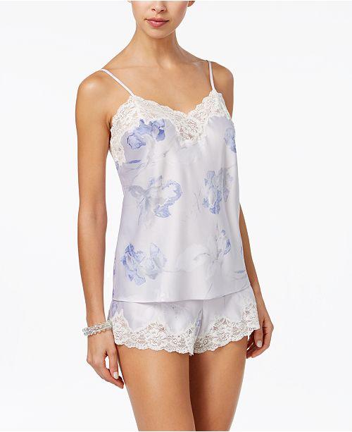 73ec49da33 ... Lauren Ralph Lauren Lace-Trimmed Satin Cami and Shorts Pajama Set ...