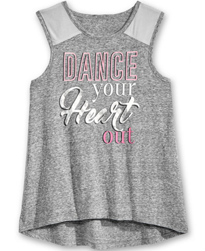 Ideology Graphic Tank Top, Big Girls (7-16), Only at