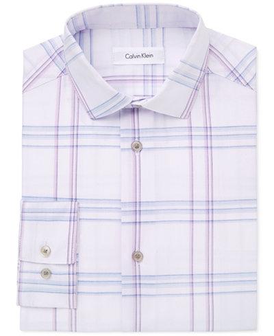 Calvin Klein Windowpane Plaid Shirt, Big Boys