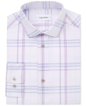 Calvin Klein Windowpane Plaid Shirt Big Boys (820)