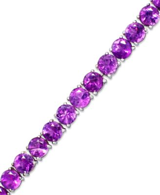 Amethyst Sterling Silver Bracelet (20 ct. t.w.) (Also Available in Blue Topaz, Garnet and Multi-Stone Versions)