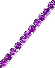 Amethyst Sterling Silver Bracelet (14 ct. t.w.) (Also Available in Garnet, Blue Topaz and Multi-Stone)
