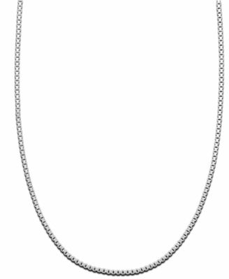 Sterling Silver Necklace, Box Chain