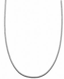Giani Bernini Sterling Silver Necklace, Box Chain