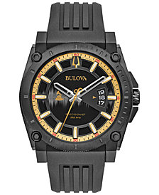 LIMITED EDITION Bulova Men's Special Edition 2017 GRAMMY® Black Silicone Strap Watch 46mm 98B294