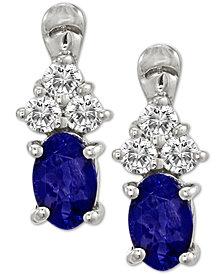 Le Vian® Blueberry Tanzanite® (3/4 ct. t.w.) & Diamond (1/5 ct. t.w.) Drop Earrings in 14k White Gold