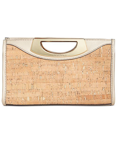 65dc4483a66 Calvin Klein Cork Clutch & Reviews - Handbags & Accessories - Macy's