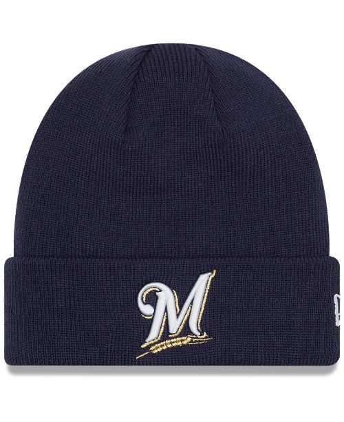 New Era Milwaukee Brewers Basic Cuffed Knit Hat