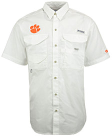 Columbia Men's Clemson Tigers Bonehead Short Sleeve Shirt