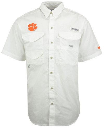 Columbia Men's Clemson Tigers Bonehead Short Sleeve Shirt