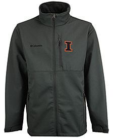 Columbia Men's Illinois Fighting Illini Ascender Softshell Jacket