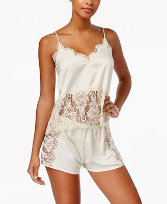 Flora by Flora Nikrooz Erin Lace-Trimmed Charmeuse Cami And Shorts Pajama Set