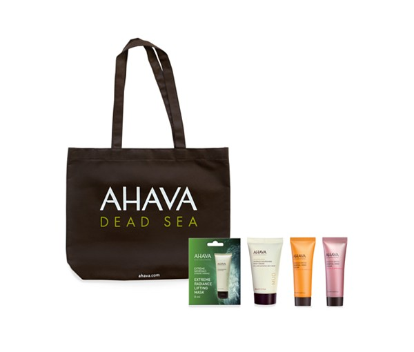 Receive a free 5-piece bonus gift with your $45 AHAVA purchase