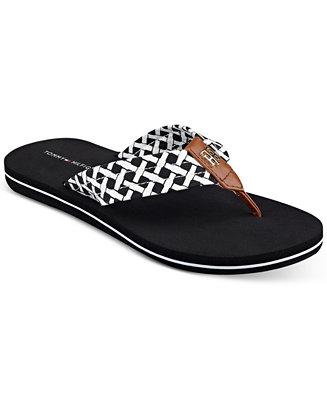 tommy hilfiger women 39 s cerley flip flops sandals shoes. Black Bedroom Furniture Sets. Home Design Ideas
