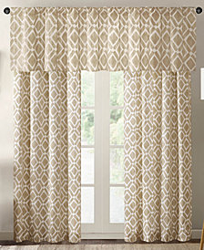 Madison Park Delray Diamond-Print Twill Kitchen Tier, Panel and Valance Collection