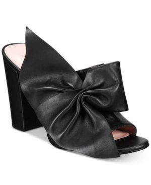 AVEC LES FILLES Marie Bow Block-Heel Slides Women'S Shoes in Black