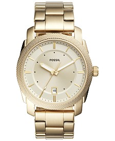 Fossil Men's Machine Gold-Tone Stainless Steel Bracelet Watch 42mm FS5264