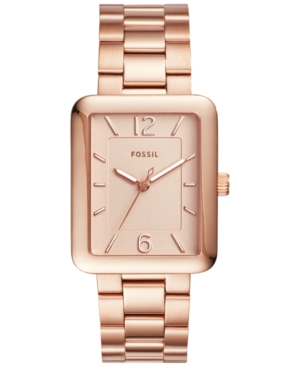 Fossil Women's Atwater Rose Gold-Tone Stainless Steel Bracel