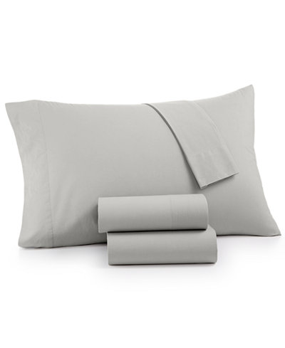 CLOSEOUT! Whim by Martha Stewart Collection Vintage Wash 4-Pc. All Cotton 200 Thread Count California King Sheet Set, Created for Macy's