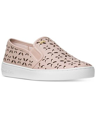 MICHAEL Michael Kors Keaton Floral Perforated Slip-On Sneakers