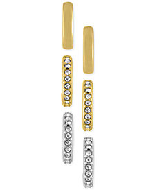 RACHEL Rachel Roy 3-Pc. Set Small Hoop Earrings