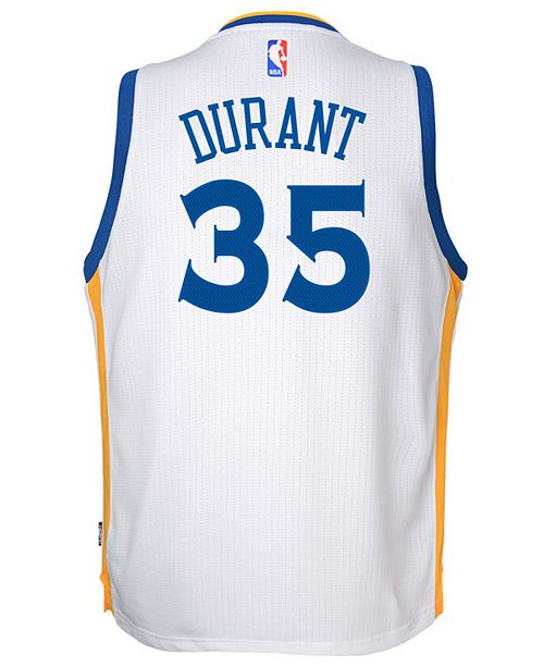 adidas  Kevin Durant Golden State Warriors New Swingman Jersey, Big Boys (8-20)