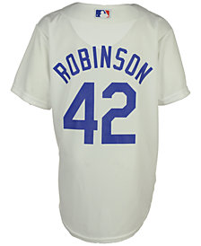 Majestic  Jackie Robinson Los Angeles Dodgers Player Replica CB Jersey, Big Boys (8-20)