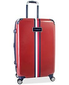 "CLOSEOUT! Basketweave Hardside 25"" Spinner Suitcase"