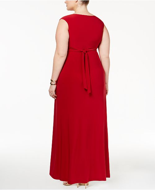 Love Squared Trendy Plus Size Sleeveless Knotted Maxi Dress ...