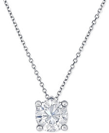 Diamond Solitaire Pendant Necklace (1-1/4 ct. t.w.) in 14k Gold and White Gold